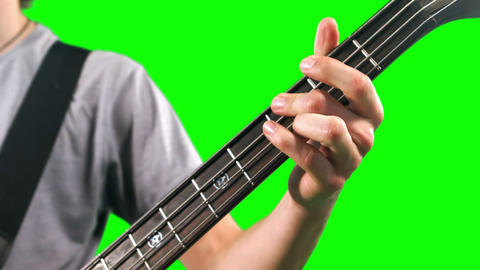 Close up of man playing bass Footage
