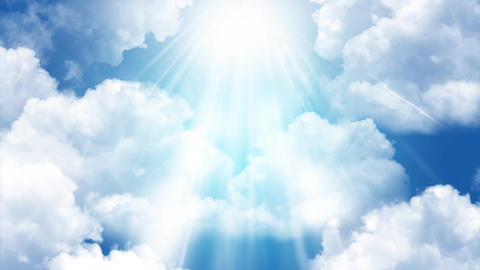 Cloud Rays Background Animation
