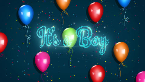 Its A Boy Animation
