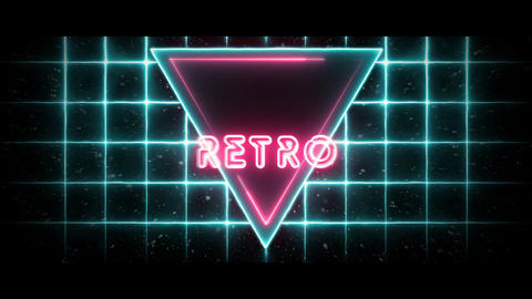 VJ LOOP 3D RETRO PACK - Synced 128 BPM Animation
