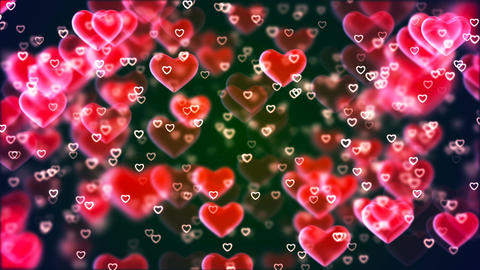 Flying Hearts, Abstract Loopable Background Animación