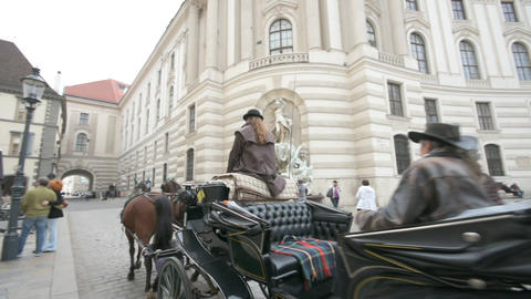 Horse-drawn carriage in Vienna Image