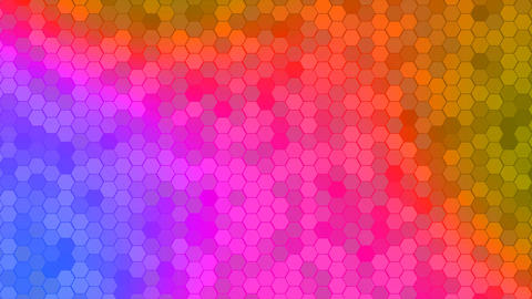 4K Loop Hexagons Mosaic Background GIF