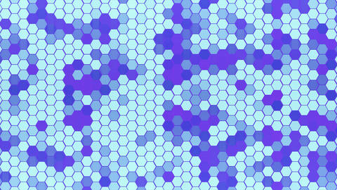 4K Loop Hexagons Mosaic Background ビデオ