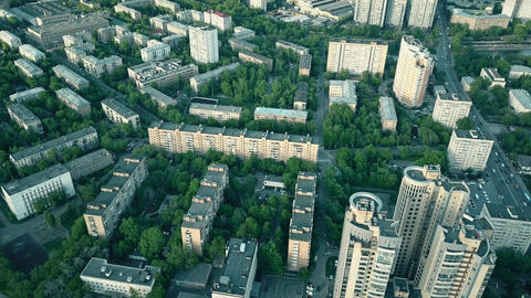 Typical Moscow residential area Footage