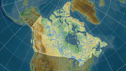 Canada and neighborhood. Physical Animation