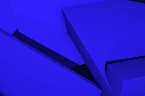 Geometrical background from random cubes Fotografía