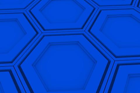 Wall of blue hexagons Fotografía