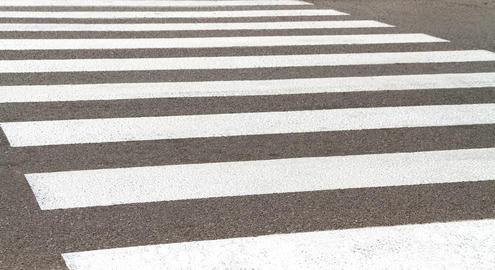 A worn-out pedestrian crossing Fotografía