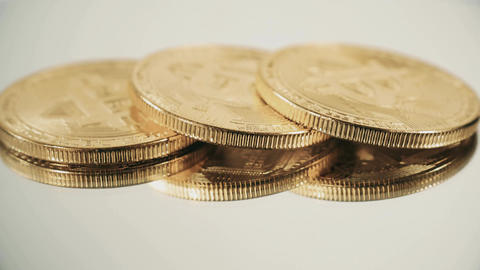 Crypto currency Gold Bitcoins - BTC - Bit Coin. Macro shots crypto currency Image
