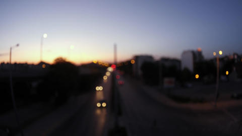 Blurry boulevard at night – out of focus bokeh effect Live Action