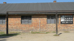 Gallows to hang prisoners in the Auschwitz extermination camp Archivo