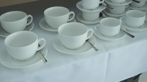 Set of coffee cups Footage