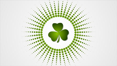 St. Patricks Day green abstract video animation Animation