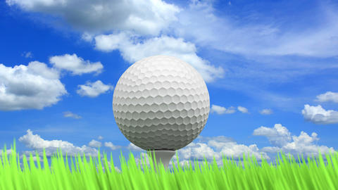 Golf Ball Animation stock footage
