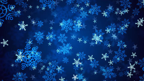 Blue Christmas Snow Flakes Animation