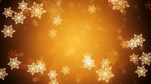 Golden Snow Flakes Animation