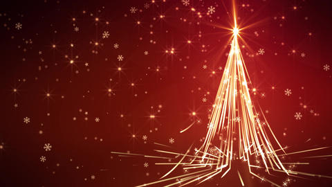 Red Streaks Christmas Tree CG動画素材