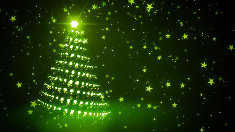 Green Sparkling Christmas Tree Animation