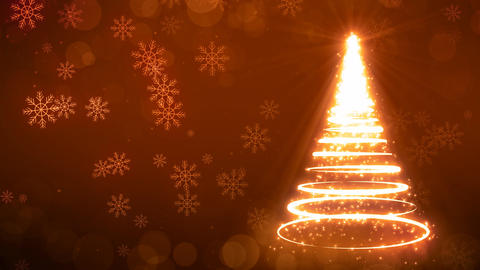Yellow Strokes Christmas Tree Animation