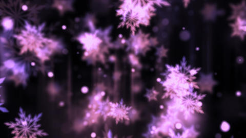 Purple Glassy Snowflakes Animation