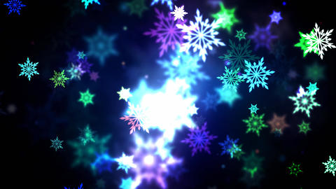 Colorful Snowflakes Animation