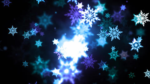 Winter Colorful Snowflakes Animation
