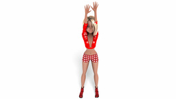 Digital Animation of a Cheerleader Girl Animation