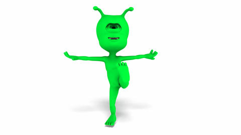 Digital Animation of a dancing Alien Animation