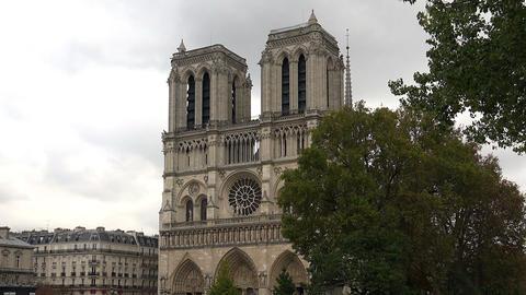Notre Dame Cathedral de Paris. France Footage