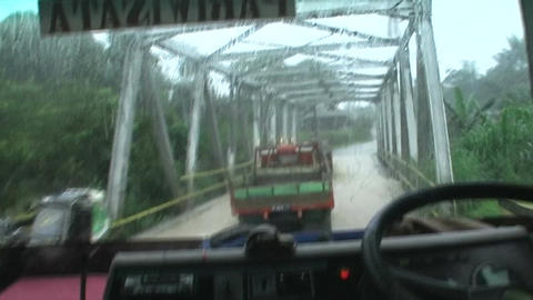 Driving through the countryside with a truck Live Action