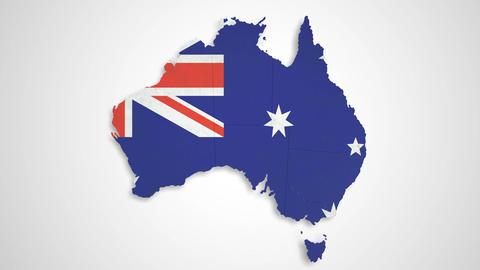 Australia Map - States Combine Animation