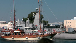 Greece The Aegean Sea Kos 001 Blue Journey Sailing Boat Leaves Harbor stock footage