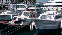 Greece the Aegean Sea Kos 007 many boats berthed at the pier Footage