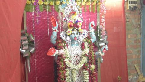 Idol of Goddess Kali - Kali mata Footage