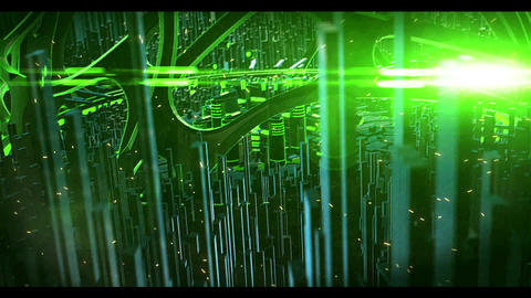 Future Sci Fi logo (Green) After Effects Template