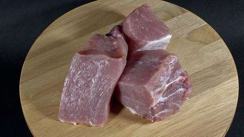 Raw pork meat Filmmaterial