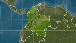 Colombia and neighborhood. Satellite Animation