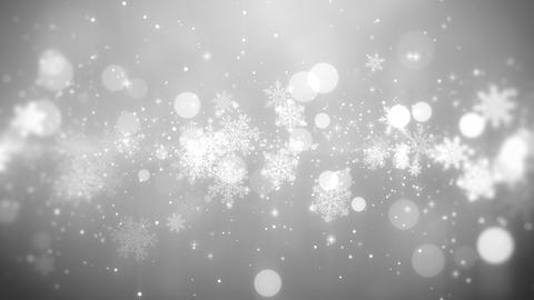 Christmas background (white theme), with snowflake lights in stylish and elegant フォト