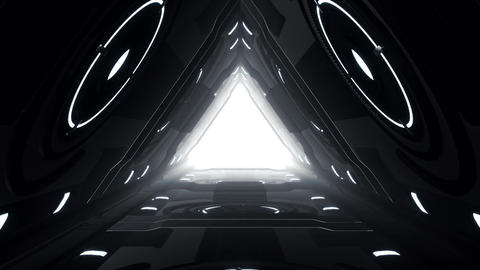 Vj Loop of Sci-fi Futuristic Tunnel Animation