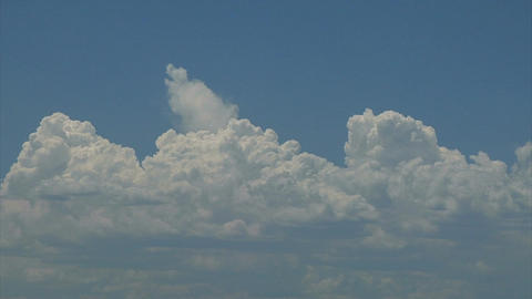 Cloud formations in blue sky Footage