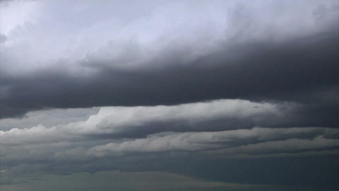 Gray storm clouds timelapse Footage