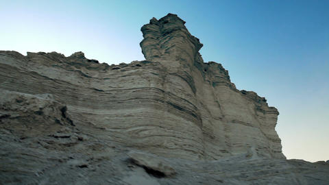 Low angle wall of strata Footage