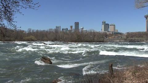 Niagara falls canada seen beyond niagara river Footage