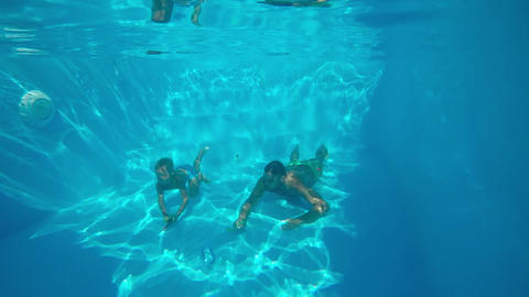 Underwater swimming Footage