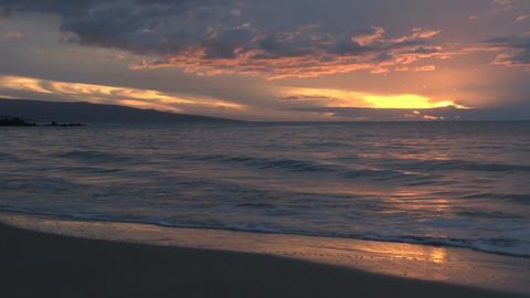 Orange hawaii sunset Footage