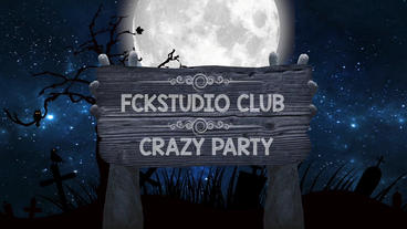Halloween night club promo Apple Motion Template