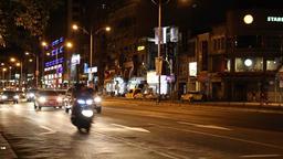 Taipei traffic during evening Taiwan 2 Footage