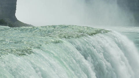 Slow water falling over niagara Footage