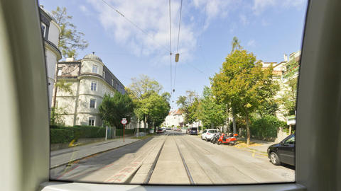Hyperlapse moving tram in Vienna Filmmaterial